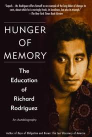 Hunger of Memory by Richard Rodriguez book cover