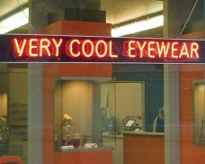 Very Cool Eyewear sign 4x